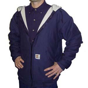 Lined Zipper-Front Sweatshirt With Hood