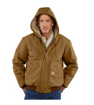 Flame-Resistant Duck Active Jacket/Quilt Lined  #  101622  MIDWEIGHT
