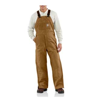 Flame-Resistant Duck Bib Overall/Quilt Lined  Carhartt-#101626