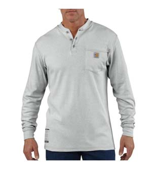 Carhartt Flame-Resistant Traditional Long Sleeve Henley          With Pocket
