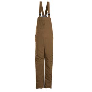 BULWARK  FR  Brown Duck Insulated Bib Overall