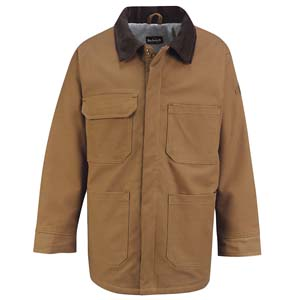 Brown Duck Lineman's Coat  BULWARK  FR  ( NO LINING)