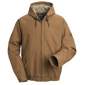 FR Brown Duck Hooded Jacket   BULWARK FR ( NO LINING )
