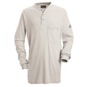 BULWARK    FR  Long Sleeve Tagless Henley Shirt