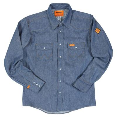 Wrangler¨ Flame Resistant Long Sleeve  DENIM  Snap Front